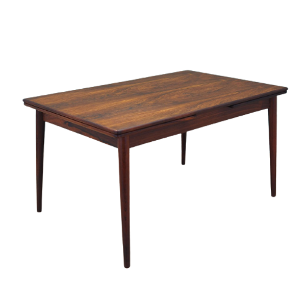 Table en bois de rose, design danois, années 60, Danemark