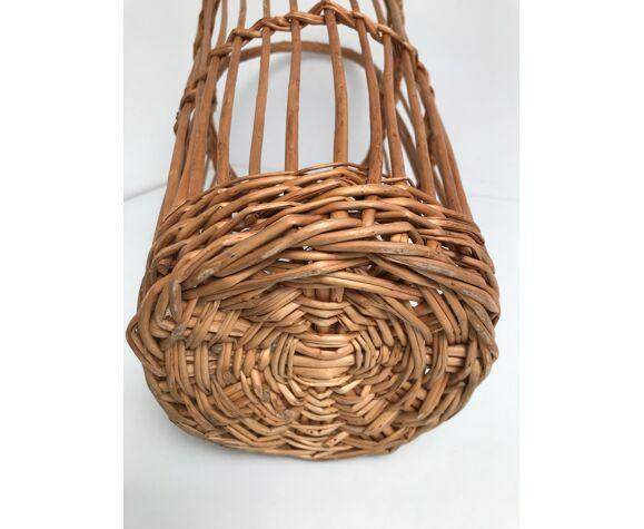 Panier avec anse en rotin osier vintage