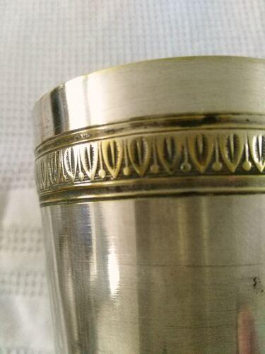 Timbale art déco en métal argenté