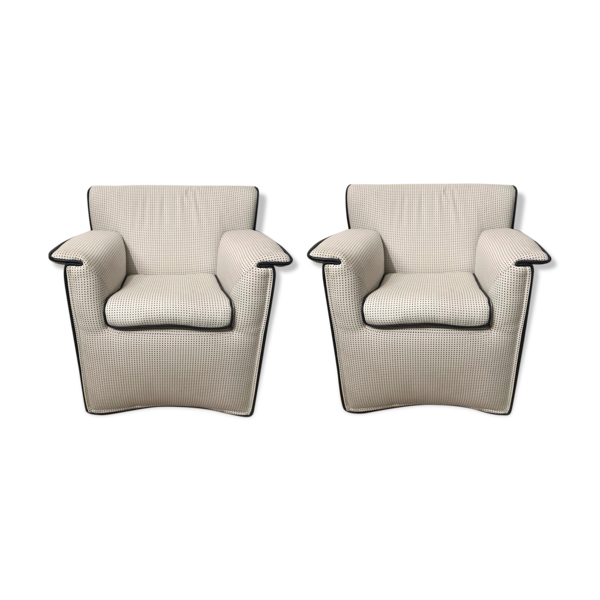 Paire de fauteuils Laurianetta Afra et Tobia Scarpa, B&B Italia 1978