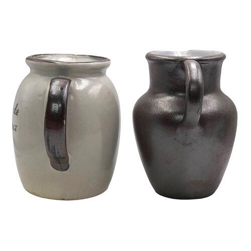 Deux pichets deux tasses grès