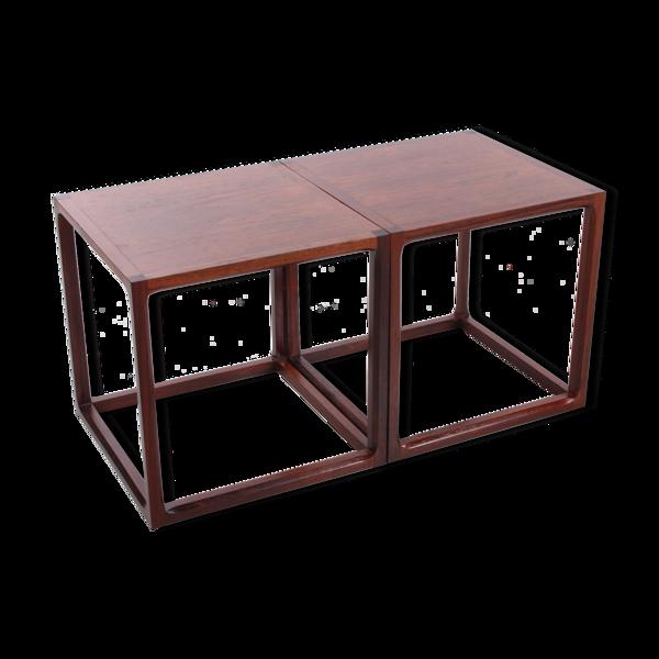 Selency Table basse cube mise en place par Aksel Kjersgaard, Denemarken années 1950