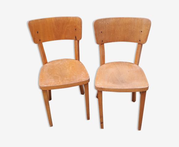 Paire de chaises bistrot signées Thonet