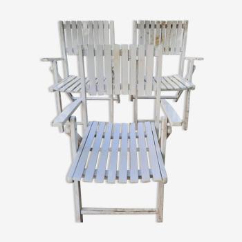 3 chaises pliante de jardin
