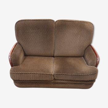 Canapé années 50 en tissu, 2 places