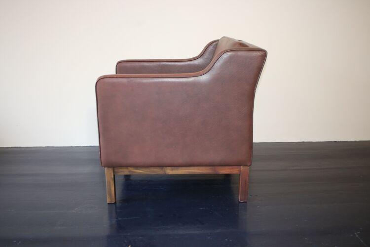 Fauteuil danois vintage en cuir