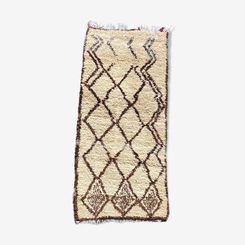 Tapis berbere Beni Ouarain 80x180 cm