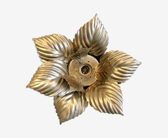 Applique ou plafonnier feuilles dorées
