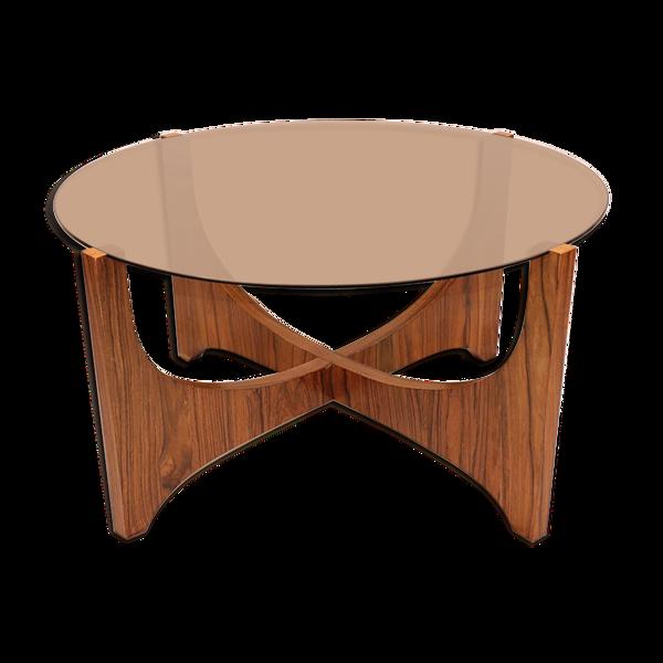 Selency Table basse scandinave en palissandre 1960