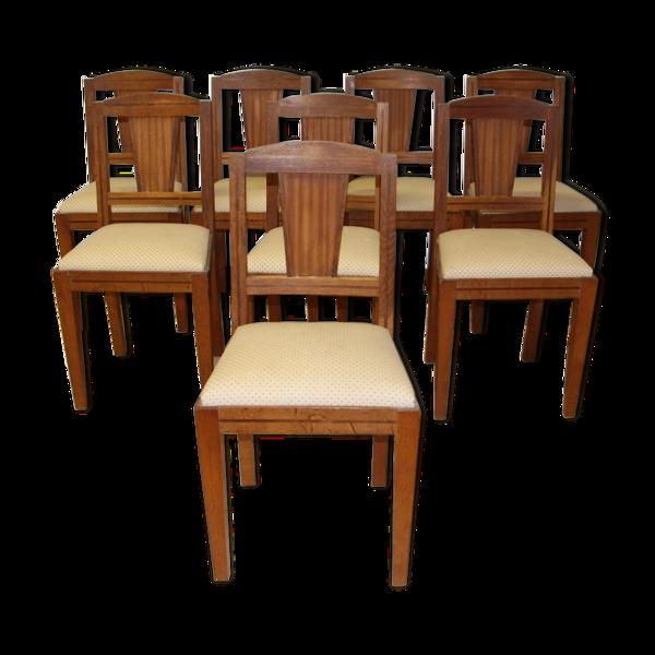 Selency Série de 8 chaises art déco