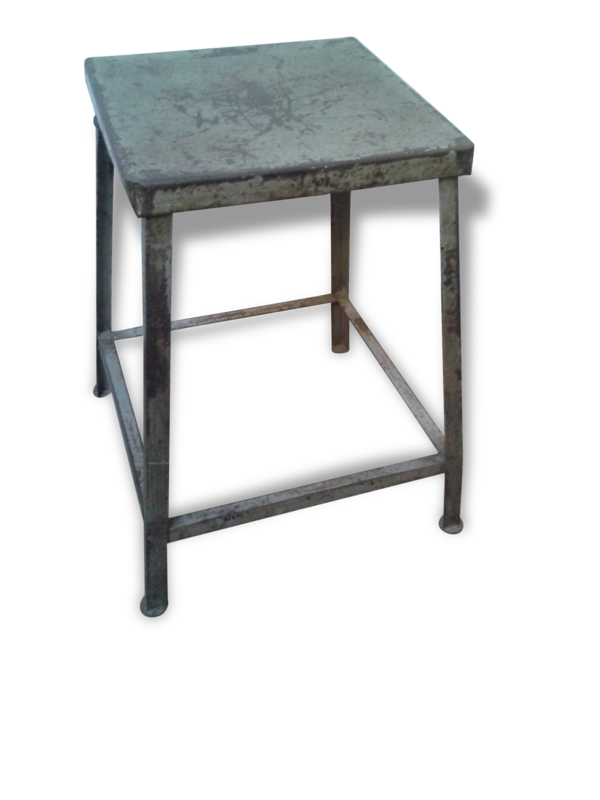 Guéridon carré fer ou tabouret