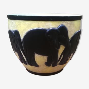 Cache pot éléphant vintage