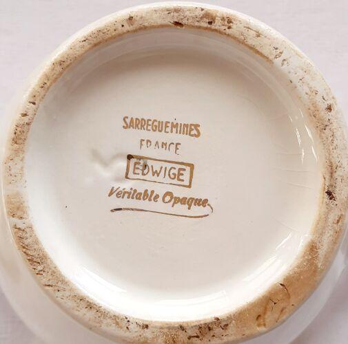 Cafetière verseuse edwige véritable opaque sarreguemines
