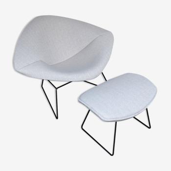 Diamond lounge chair & ottoman par Harry Bertoia pour Knoll International