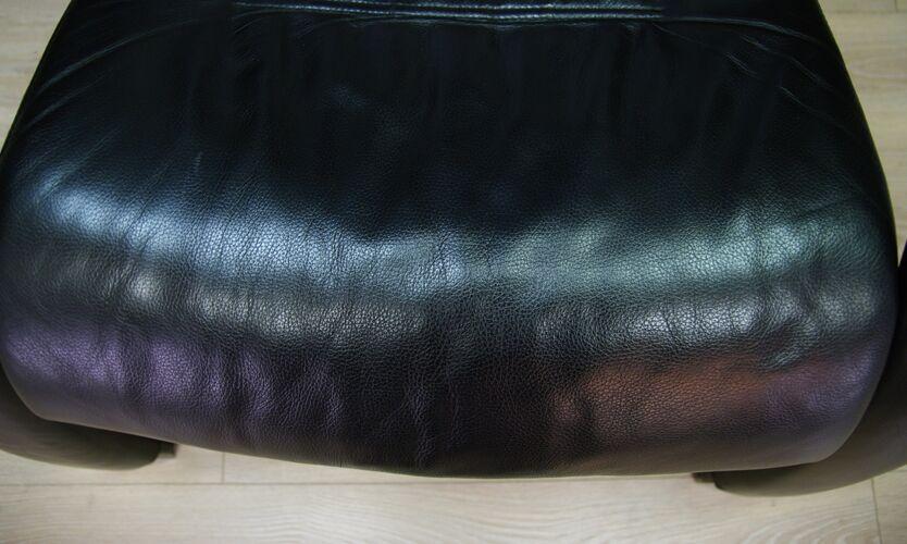 Fauteuil cuir vintage rétro