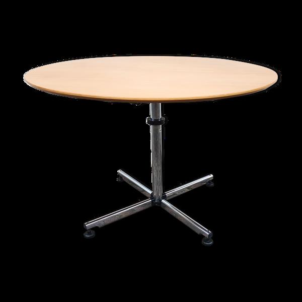 Table USM Kitos bois et chrome 110 cm