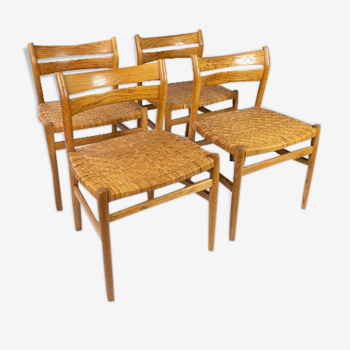 Lot de 4 chaises conçu par Børge Mogensen