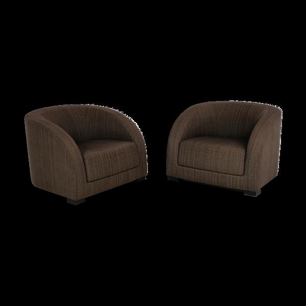 Paire de fauteuils d'Essex par Armani Casa