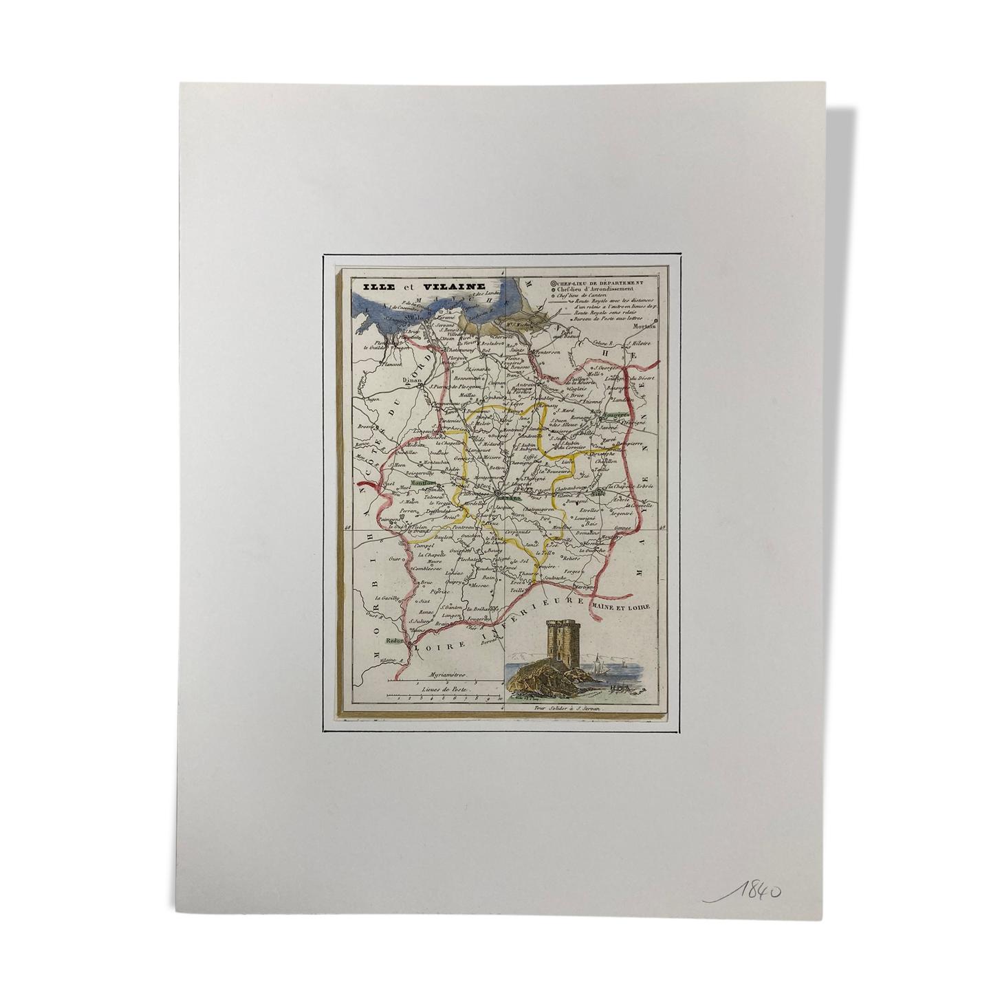 Carte ancienne Ille-et-Vilaine
