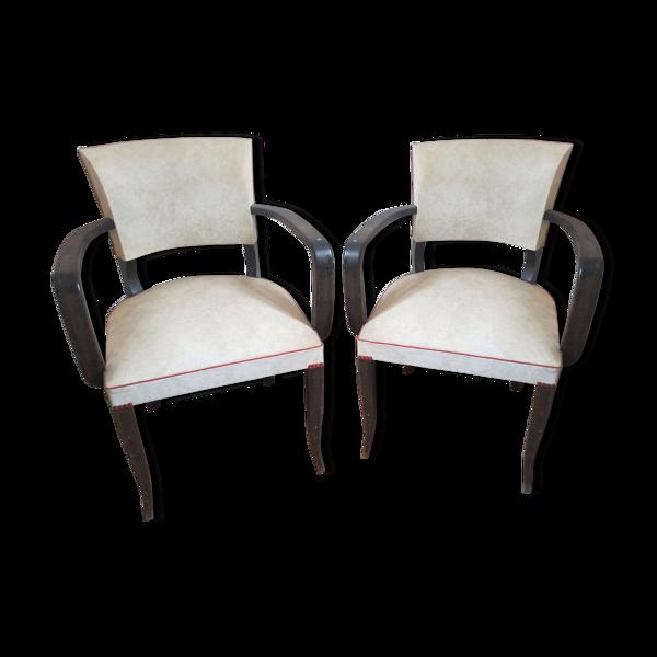 Lot de 2 fauteuils bridge années 50