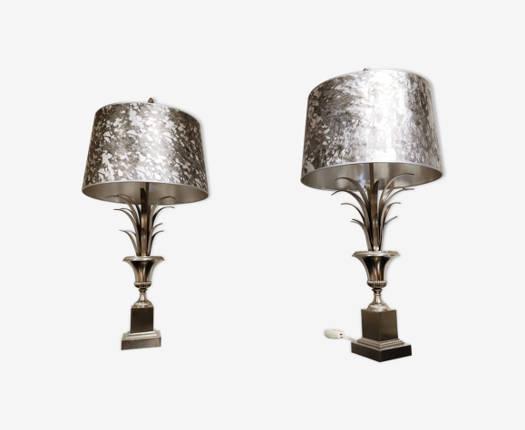 Paire de lampes vintage Hollywood Regency ananas, années 1970