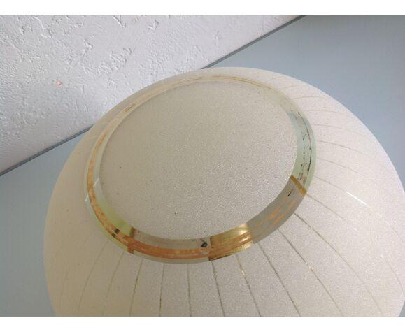 Half moon ceiling in granite glass / vintage 40-50 years