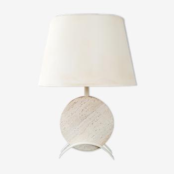 Lampe de table en travertin 1970 vintage
