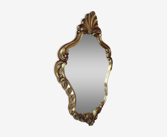 Miroir en bois avec dorure 80x50cm