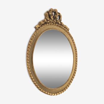 Miroir style Louis XVI biseauté et en bois doré
