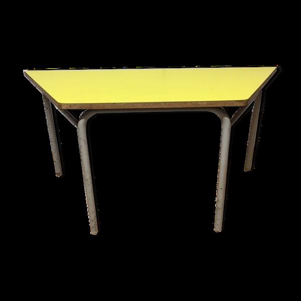 Table basse trapézoïdale formica 1960