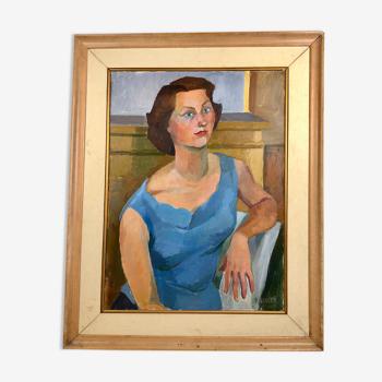 La femme à la robe bleue