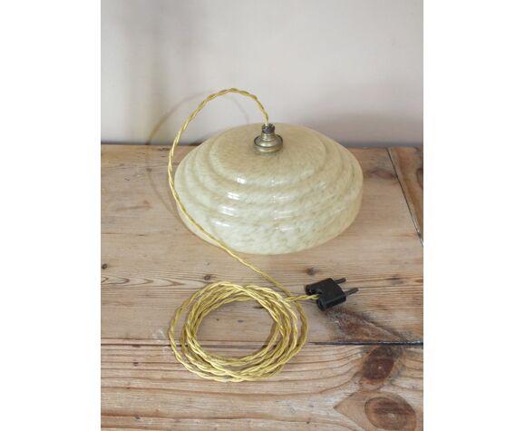 Lampe baladeuse suspension en verre moucheté vintage
