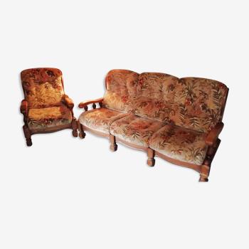 Canapé avec fauteuil