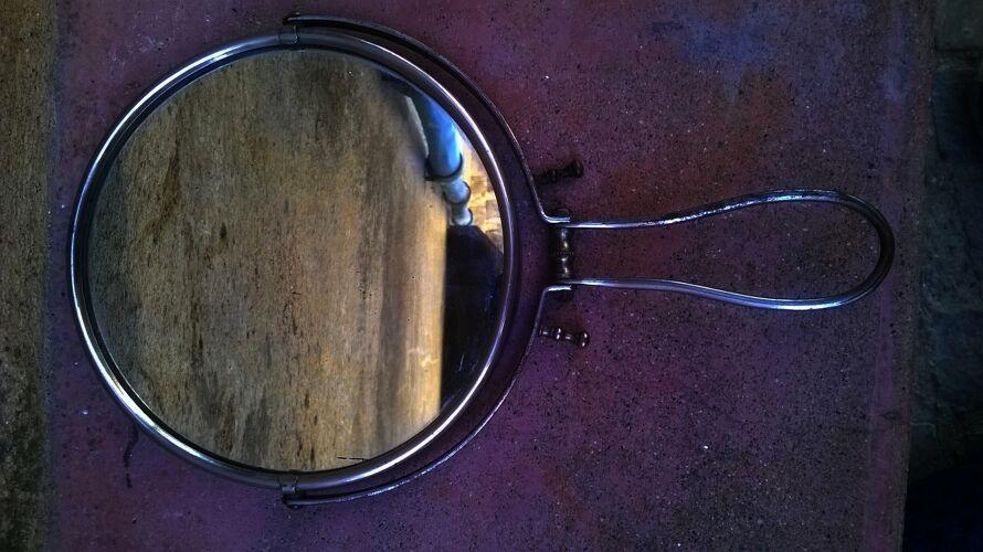 Miroir ancien de barbier