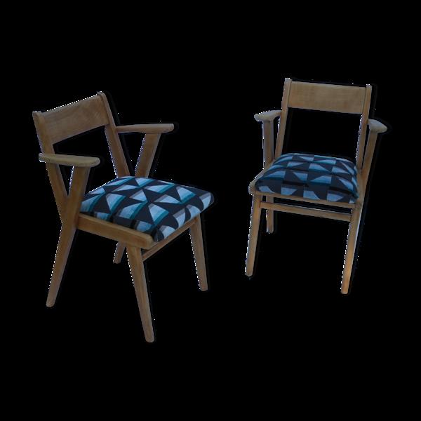 Lot de 2 fauteuil bridge années 50