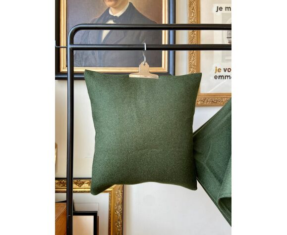 Green wool cushion fir  40 cm