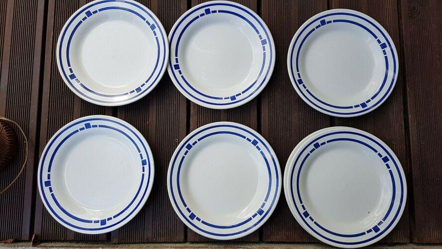 6 assiettes vintage Oxford Brazil
