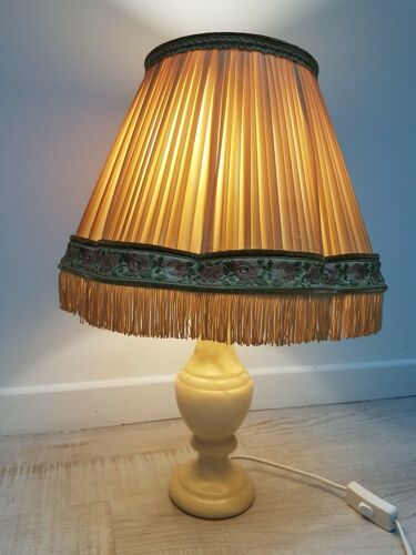 Lampe à poser en albâtre vintage