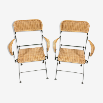 Set de 2 chaises osier