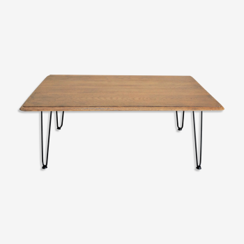 Table basse en chëne brut 110x42x74