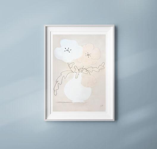 "Fleurs ""Neya"" -impression d'art A4"