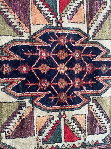 Tapis ancien mazlaghan persan fait main