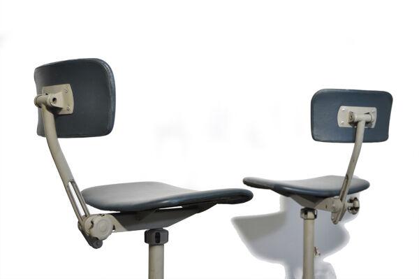 Deux chaises de bureau Industrial Vintage, années 1960
