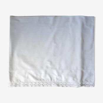 Tissu en coton blanc avec dentelle et jours pour dessus de cheminée ou chemin de table ou …