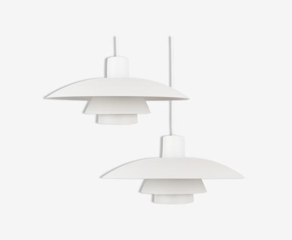 Pair of danish mid-century pendant lamps PH 4/3 by Poul Henningsen, Louis Poulsen, 1966