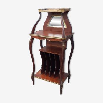Meuble à musique ancien style louis xv meuble d'appoint marqueterie