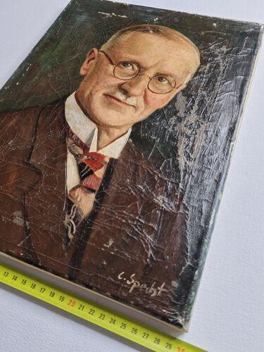 Portrait de notable signé C.Specht, début du XXème siècle