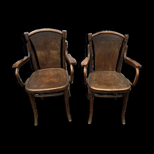 Selency Paire de fauteuils Thonet