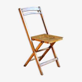 Chaise bistrot pliante des années 30