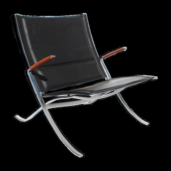 Selency Fauteuil, modèle FK82 - Chaise X, conçue par Preben Fabricius et Jørgen Kastholm